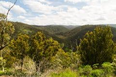 Punkt obserwacyjny nad górami wzdłuż wielkiej ocean drogi Obraz Stock