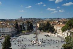 Punkt obserwacyjny nad piazza Del Popolo Zdjęcia Stock