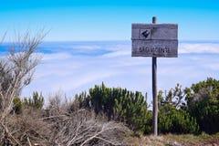 Punkt obserwacyjny od Pico Ruivo robi Paul, madera Zdjęcie Royalty Free
