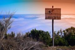 Punkt obserwacyjny od Pico Ruivo robi Paul, madera Obrazy Stock