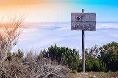 Punkt obserwacyjny od Pico Ruivo robi Paul, madera Zdjęcia Royalty Free