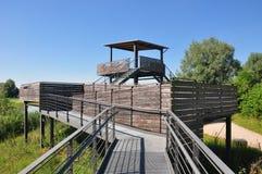 Punkt obserwacyjny przy Altmuehlsee w Bavaria zdjęcia stock