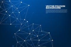 PUNKT-Polygonhintergrund des Netzes Verbindungs vektor abbildung