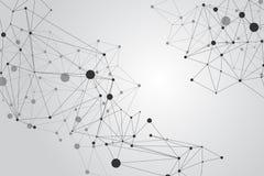 PUNKT-Polygonhintergrund des Netzes Verbindungs: Konzept des Netzes, Geschäft, schließend, Molekül, Daten, Chemikalie an stock abbildung