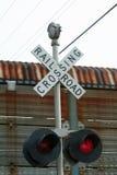 punkt przecięcia linii kolejowej zdjęcia royalty free