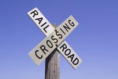 punkt przecięcia linii kolejowej znaku Obraz Royalty Free