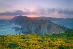 Punkt-Reyes-Sonnenuntergang Lizenzfreie Stockfotografie