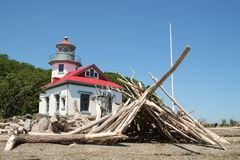 Punkt Robinson Lighthouse lizenzfreie stockbilder