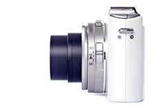Punkt-und Eintragfaden-Digitalkamera getrennt auf Weiß Stockbild