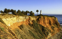 Punkt Vicente i Rancho Palos Verdes Arkivbild