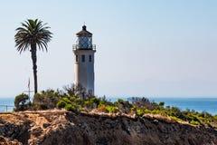 Punkt Vicente Lighthouse i Rancho Palos Verdes, Kalifornien royaltyfria foton