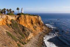Punkt Vicente Lighthouse på Palos Verdes Royaltyfri Bild