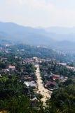 Punkt widzenia i krajobraz w luang prabang, Laos Zdjęcia Royalty Free
