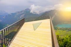 Punkt widzenia nad Interlaken Obrazy Stock