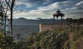 Punkt widzenia nad Tajo de Ronda obrazy royalty free