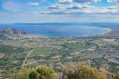 Punkt widzenia zatoka róży Hiszpania morze śródziemnomorskie Obraz Stock
