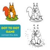 Punkt zu Dot Games für Kinder eichhörnchen Stockfotografie
