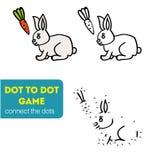 Punkt zu Dot Games für Kinder Kaninchen, Hase, Reiche, Gold, Geld, Zigarren Stockfoto