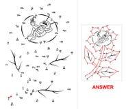 Punkt-zu-Punkt - Blume Stockfoto