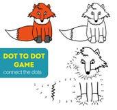 Punkt, zum des Kinderspiels zu punktieren Farbton und Punkt, zum des Lernspiels für Kinder zu punktieren Hundekopf mit einem nett Stockbilder