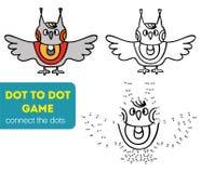 Punkt, zum des Kinderspiels zu punktieren Farbton und Punkt, zum des Lernspiels für Kinder zu punktieren Hundekopf mit einem nett Stockbild