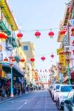 Punkt zwrotny Chinatown na Grant alei w San Fransisco zdjęcie stock