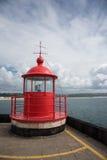 Punkt zwrotny Farol Nazare latarnia morska Portugalia Obrazy Royalty Free