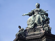 punkt zwrotny Maria theresia Vienna Fotografia Royalty Free
