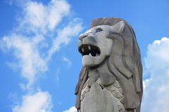 punkt zwrotny merlion Singapore statua Obraz Stock