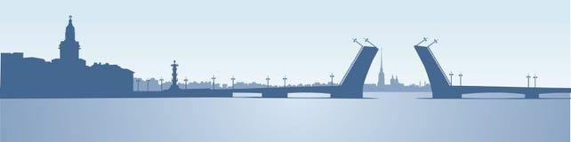 punkt zwrotny panoramy Petersburg rosjanina święty ilustracji