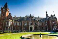 punkt zwrotny stary pałac plawniowice Poland regionu Silesia wierzch Zdjęcie Royalty Free