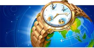 punkt zwrotny zegarka nadgarstek Obrazy Royalty Free