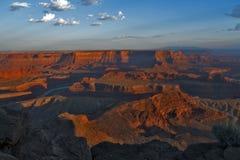 Punktdelstatspark för död häst, Utah, USA arkivbilder