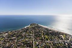 PunktDume Malibu Kalifornien antenn Arkivbild