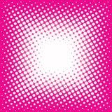 Punkte auf rosa Hintergrund Stockfotos