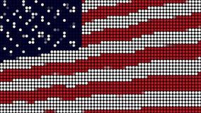 Punkte der amerikanischen Flagge LED lizenzfreie abbildung