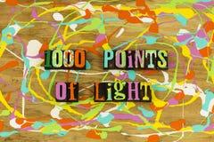 1000 Punkte des hellen Präsident Bushs stockbild