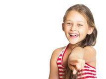 Punkte des kleinen Mädchens Lizenzfreie Stockfotografie