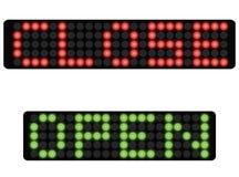 Punktematrixzeichenabschluß und öffnen sich Lizenzfreie Stockfotos