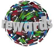 Punkter för program för lojalitet för belöningkreditkortkund vektor illustrationer