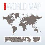 Punkterad världskarta Royaltyfri Fotografi