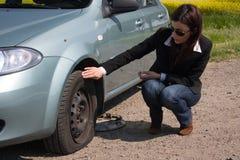 punkterat hjul Arkivfoto