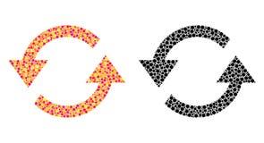 Punktiert erneuern Sie Pfeil-Mosaik-Ikonen vektor abbildung