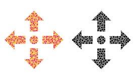 Punktiert erweitern Sie Pfeilmosaikikonen vektor abbildung