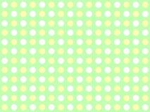 Punktiert grünes weißes Gelb des Hintergrundes Lizenzfreies Stockfoto