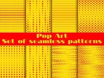 Punktiert, nahtloser Musterhintergrund der Pop-Art Vektor Stockfotos