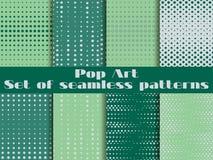 Punktiert, nahtloses Muster der Pop-Art Hintergrund in der Pop-Arten-Art stock abbildung