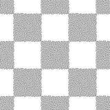 Punktiert nahtloses Muster des Schachbrett-Vektors Abstrakte geometrische punktierte Beschaffenheit für Oberflächendesign, Gewebe stock abbildung