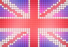 Punktierte BRITISCHE Markierungsfahne Stockfotografie