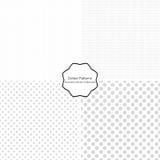 Punktierte Muster Nahtlose Vektorsammlung Lizenzfreie Stockfotografie